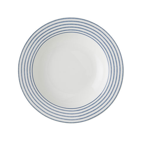 Laura,Ashley,8.4,Deep,Plate,Candy,Stripe,laura-Ashley-Blueprint-Collectables-Tableware-8.4-Deep-Plate-Candy-Stripe