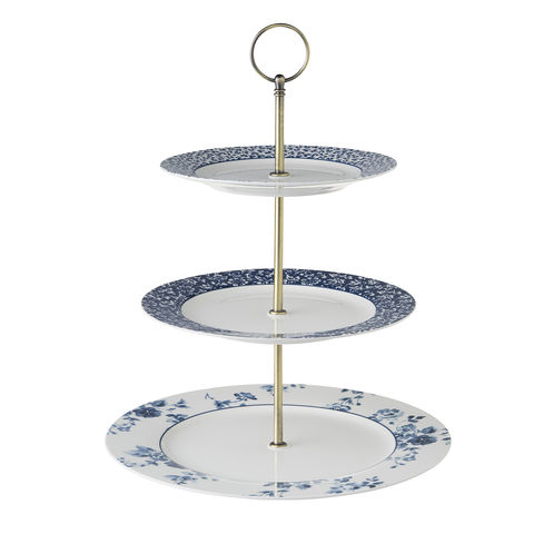 Laura,Ashley,3,Layer,Cake,Stand,Laura-Ashley-Blueprint-Collectables-Tableware-three-layer-cake-stand