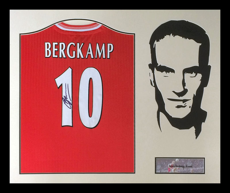 Bergkamp signed + silhouette - product images