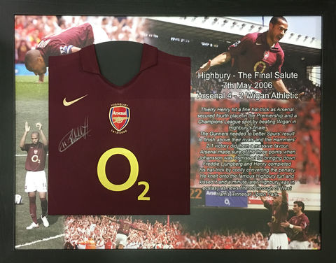 Henry,Signed,shirt,mounted