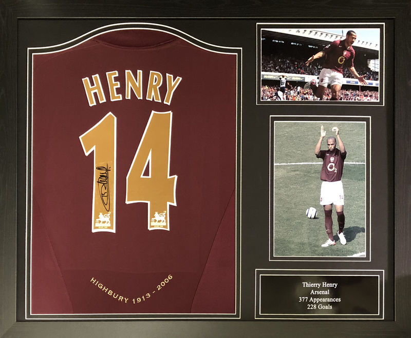Henry 14 signed shirt framed - product images