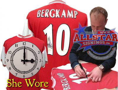 Bergkamp Signing shirts - product images  of