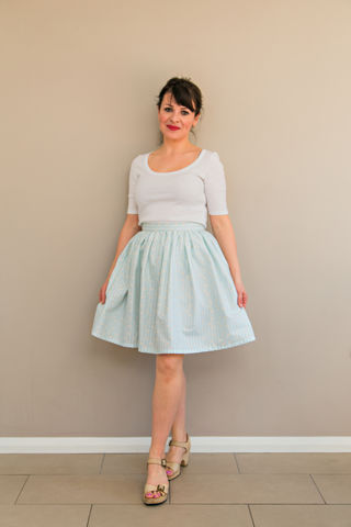 Simple,Gathered,Skirt,Instructions,simple gathered skirt pattern, gathered skirt, instructions, pattern, skirt, sewing, emporia, designs