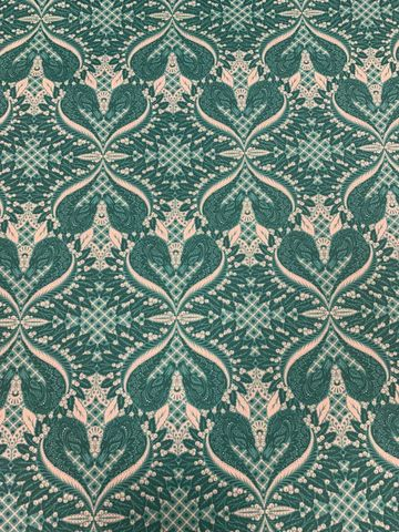 Gate,Keeper,from,Pinkerville,by,Tula,Pink,in,Teal,gate keeper, swan, teal, pinkerville, tula pink, cotton, fabric, emporia