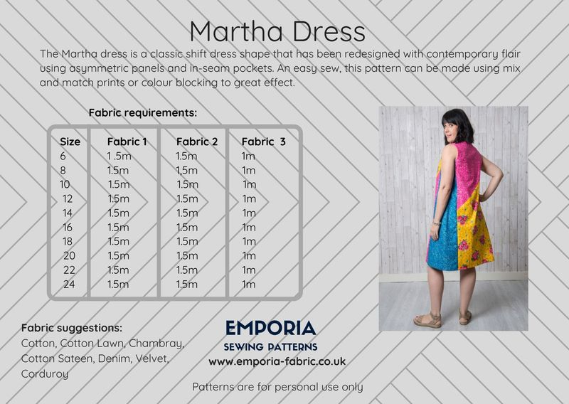 Emporia Patterns Martha Dress Pattern - product images  of