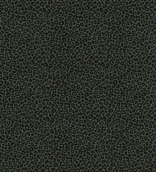 Tiny Leopard Print Cotton Jersey in Olive - product images