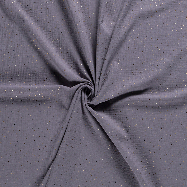 Gold Flecked Double Gauze in Grey - product images