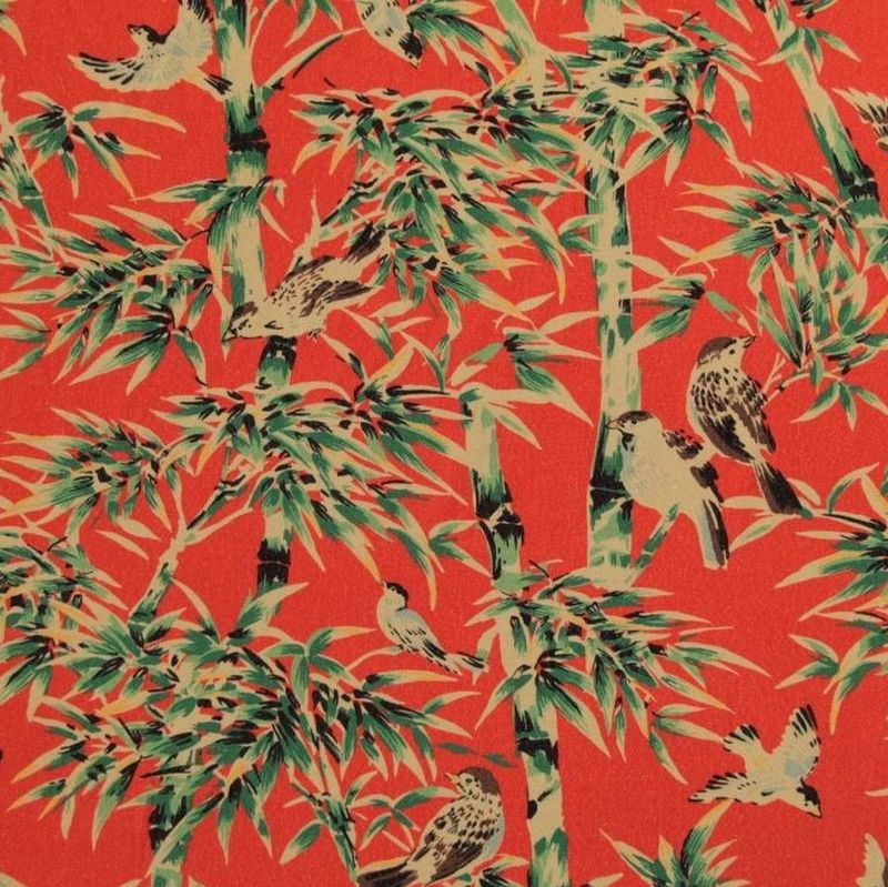 Fabric Godmother Tobu Viscose Crepe in Coral - product images  of