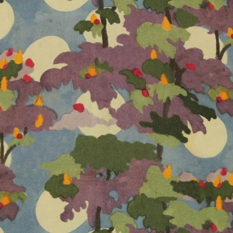 Fabric Godmother Luna Trees Viscose in Blue and Green - product images  of