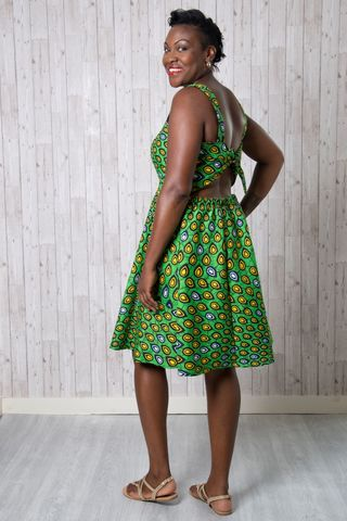 Florence,Dress,Pattern,florence, dress, pattern, skirt, sewing, sundress, ankara, tie back, wide, emporia