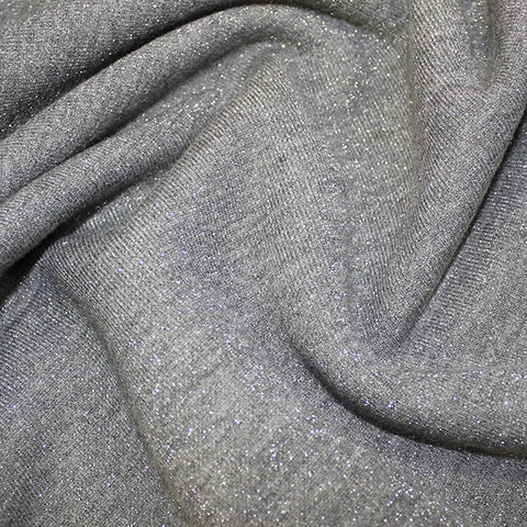 Fleece,Backed,Sparkle,Sweatshirt,in,Grey,and,Silver,fleece backed, sweatshirt, sparkle, grey, silver, soft, jersey, fabric, stretch, emporia