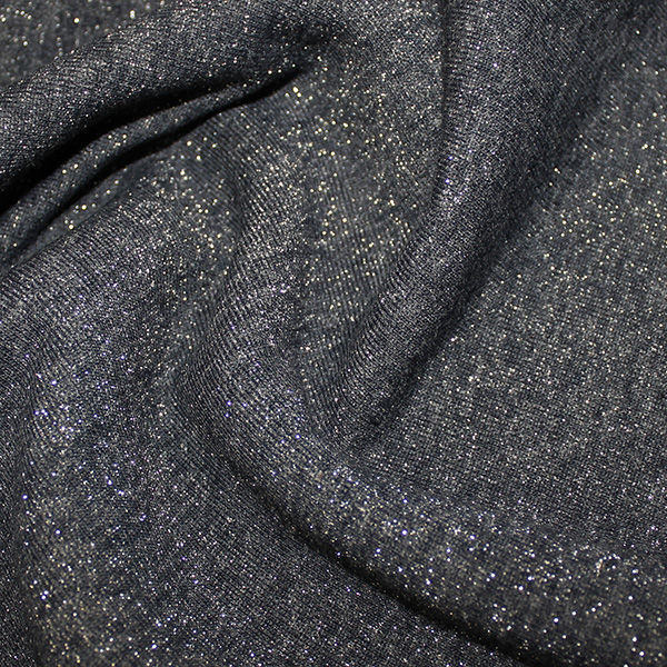 Fleece Backed Sparkle Sweatshirt in Navy and Silver - product images