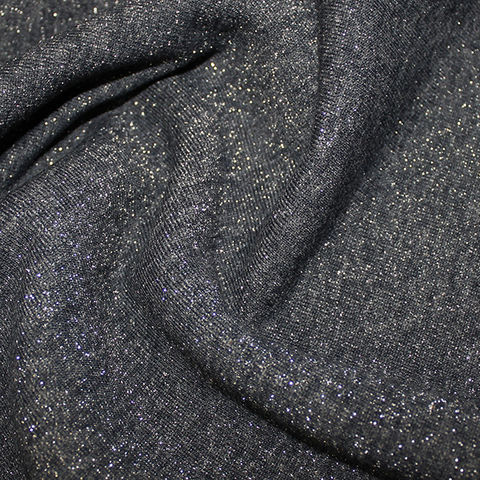 Fleece,Backed,Sparkle,Sweatshirt,in,Navy,and,Silver,sweatshirt, fleece backed, jersey, navy, blue, silv,er, stretch, fabric, material, emporia