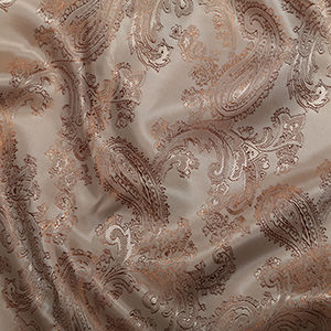 Paisley,Jacquard,Lining,in,Gold,paisley, jacquard, lining, gold, polyester, viscose, fabric, dressmaking, sewing, emporia
