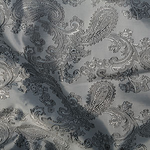 Paisley,Jacquard,Lining,in,Grey,paisley, jaquard, lining, grey, silver, polyester, viscose, dressmaking, sewing, emporia