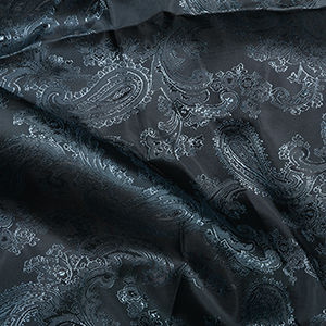 Paisley,Jacquard,Lining,in,Blue,paisley, jaquard, lining, blue, polyester, viscose, dressmaking, sewing, emporia