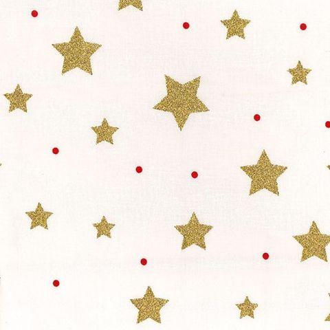 Rose,and,Hubble,Christmas,Stars,in,Gold,on,White,rose, hubble, christmas, stars, gold, red, white, cotton, festive, fabric, emporia
