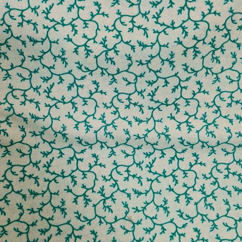 Sea,Salt,Coral,in,Aqua,Green,sea, salt, coral, aqua, green, fabric, cotton, sewing, emporia