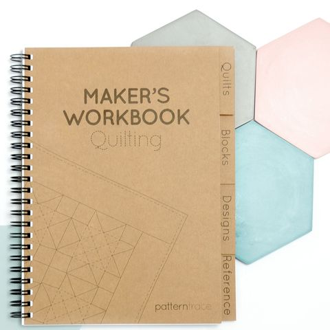 Patterntrace,Makers,Workbook,-,Quilting,patterntrace, makers, workbook, quilting, planner, work, book, quilt, emporia