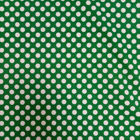 Large,Polka,Dots,in,White,and,Green,large, polka, dots, green, white, forest, quilt, cotton, sewing, emporia
