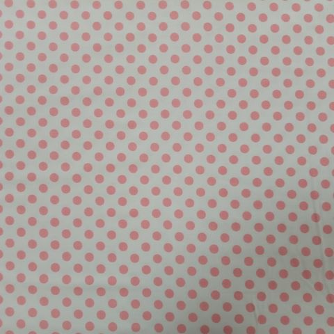 Pink,Polka,Dots,on,White,pink, polka dots, spots, white, cotton, quilt, dressmaking, sewing, emporia