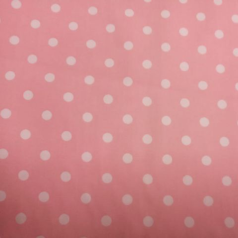 White,Polka,Dots,on,Pink,pink, polka dots, spots, white, cotton, quilt, dressmaking, sewing, emporia