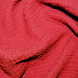 Plain,Double,Gauze,in,Scarlet,Red,double gauze, scarlet, red plain, double, gauze, cotton, emporia, fabric