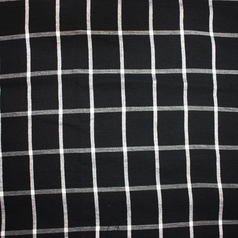 Check,Viscose,Crepe,in,Black,and,White,check, viscose, crepe, black, white, square, fabric, dressmaking, sewing, emporia