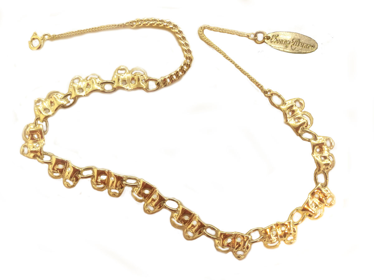 Gold mask choker - product image