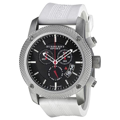 Burberry,Sport,White,Watch,BU7707,Burberry BU7707, Burberry, Burberry Rubber Watch, Burberry Watch, Cheap burberry, burberry black face watch, white rubber watch, summer watch, burberry