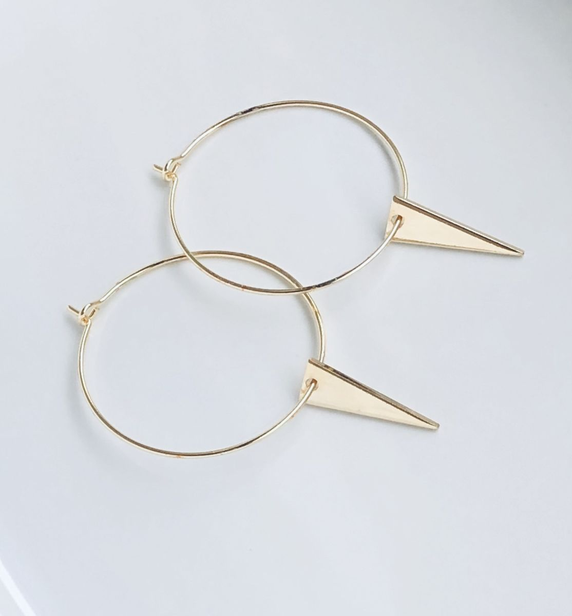 Gold Triangle Hoops - product image