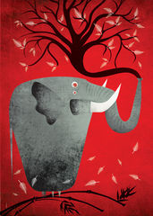 Unbreakable,1,Limited,Edition,poster, elephant, animal, unbreakable, Fatinha Ramos, Illustration