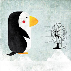 Climate,Change,Climate Change, Fatinha Illustration, Fatinha Ramos,Penguin, Global Warming