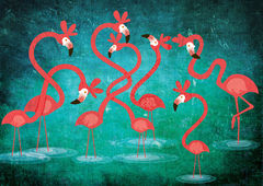 FLAMINGOS,Limited,Edition,Flamingos, Fatinha Illustration, Fatinha Ramos