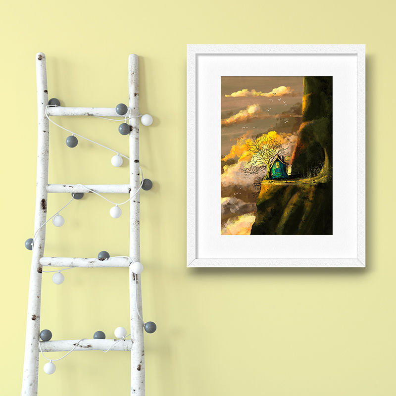 Tree House Print (21cm x 30cm) - product images  of
