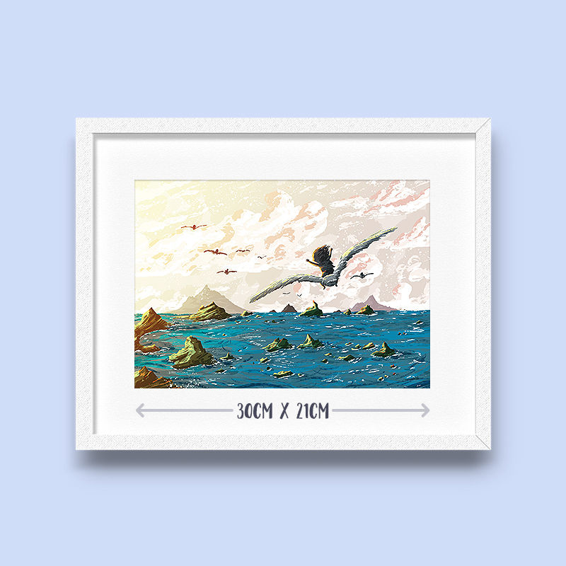Seagull Journey Print (30cm x 21cm) - product images  of