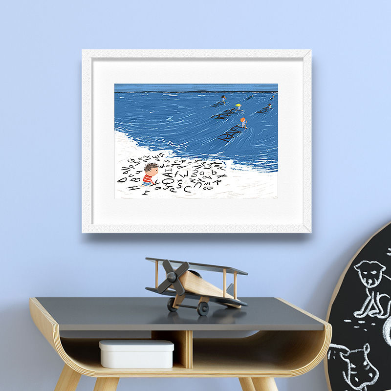 Dyslexia Beach Print (30cm x 21cm) - product images  of