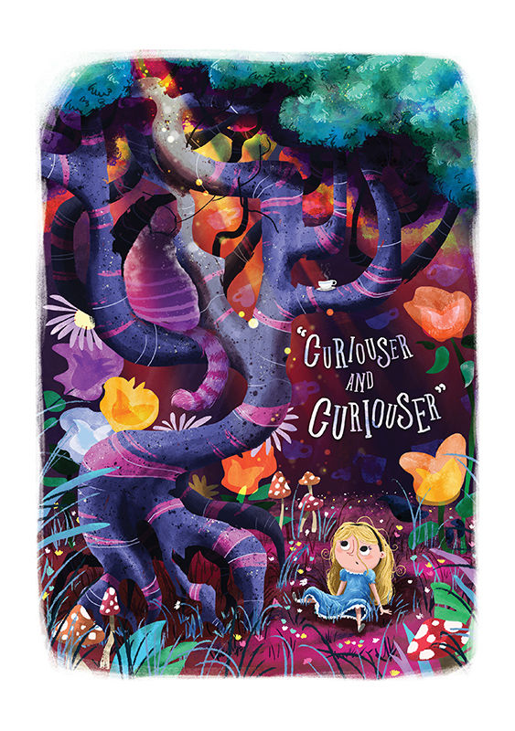 Curiouser And Curiouser Print (21cm x 30cm) - product image