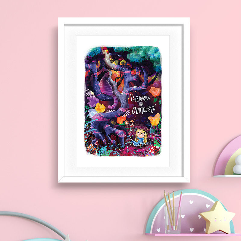 Curiouser And Curiouser Print (21cm x 30cm) - product images  of