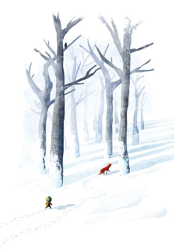 Follow The Fox Print (21cm x 30cm) - product images  of