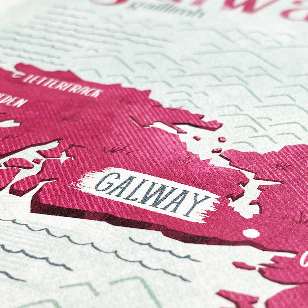 Irish County Galway Print (21cm x 30cm) - product images  of