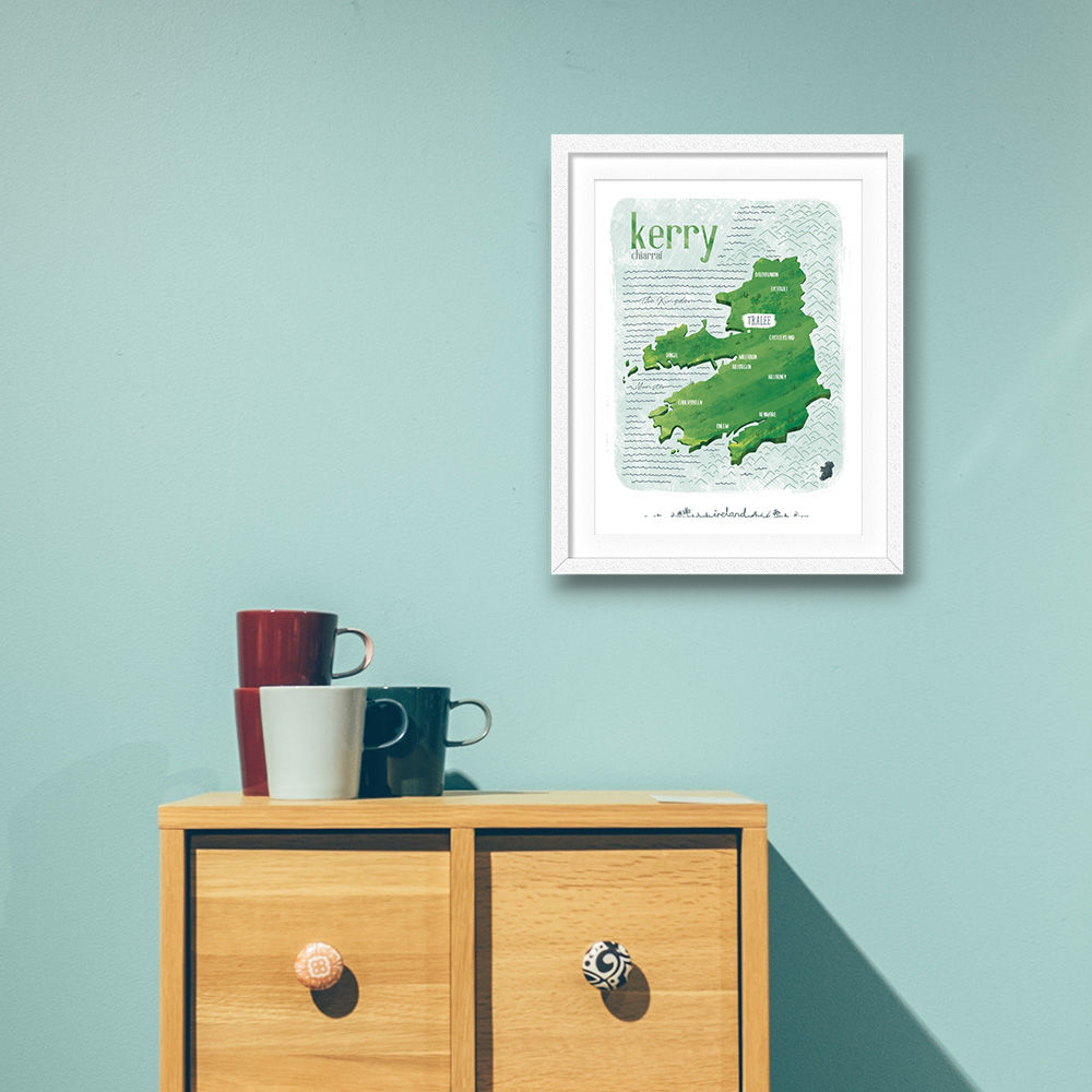 Irish County Kerry Print (21cm x 30cm) - product images  of