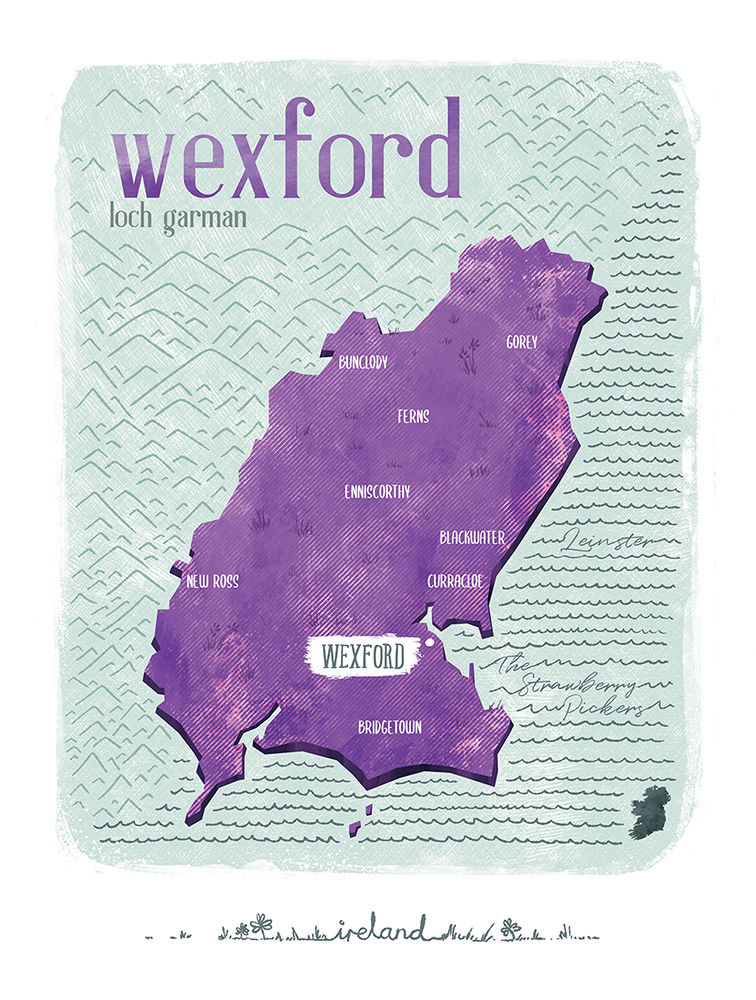 Irish County Wexford Print (21cm x 30cm) - product images  of
