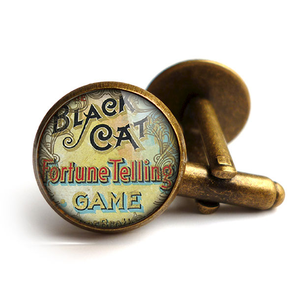 Black Cat Cufflinks (DJ05) - product images  of