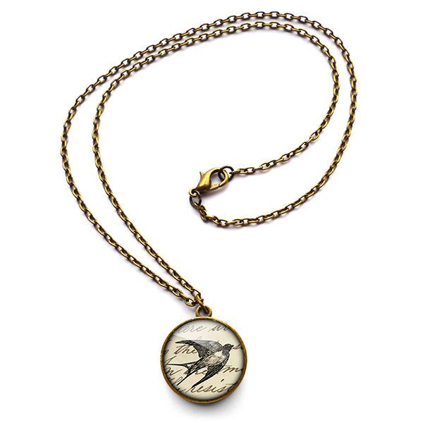 Vintage Swallow Necklace (ER05) - product images  of