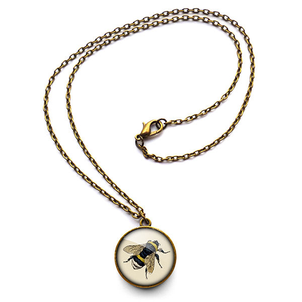 Vintage Bee Necklace (ER04) - product images  of