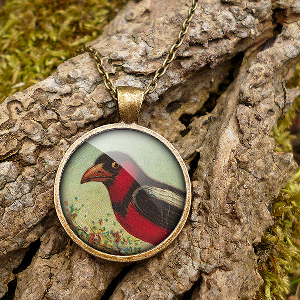 Disapproving Bird Large Necklace (TB09) - product images  of