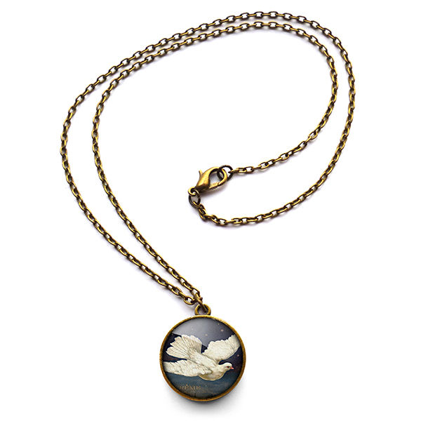 Vintage Dove Necklace (ER09) - product images  of