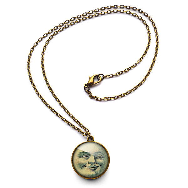 Vintage Moon Necklace (ER01) - product images  of