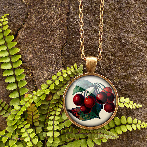Vintage Cherries Large Necklace (ER02) - product images  of